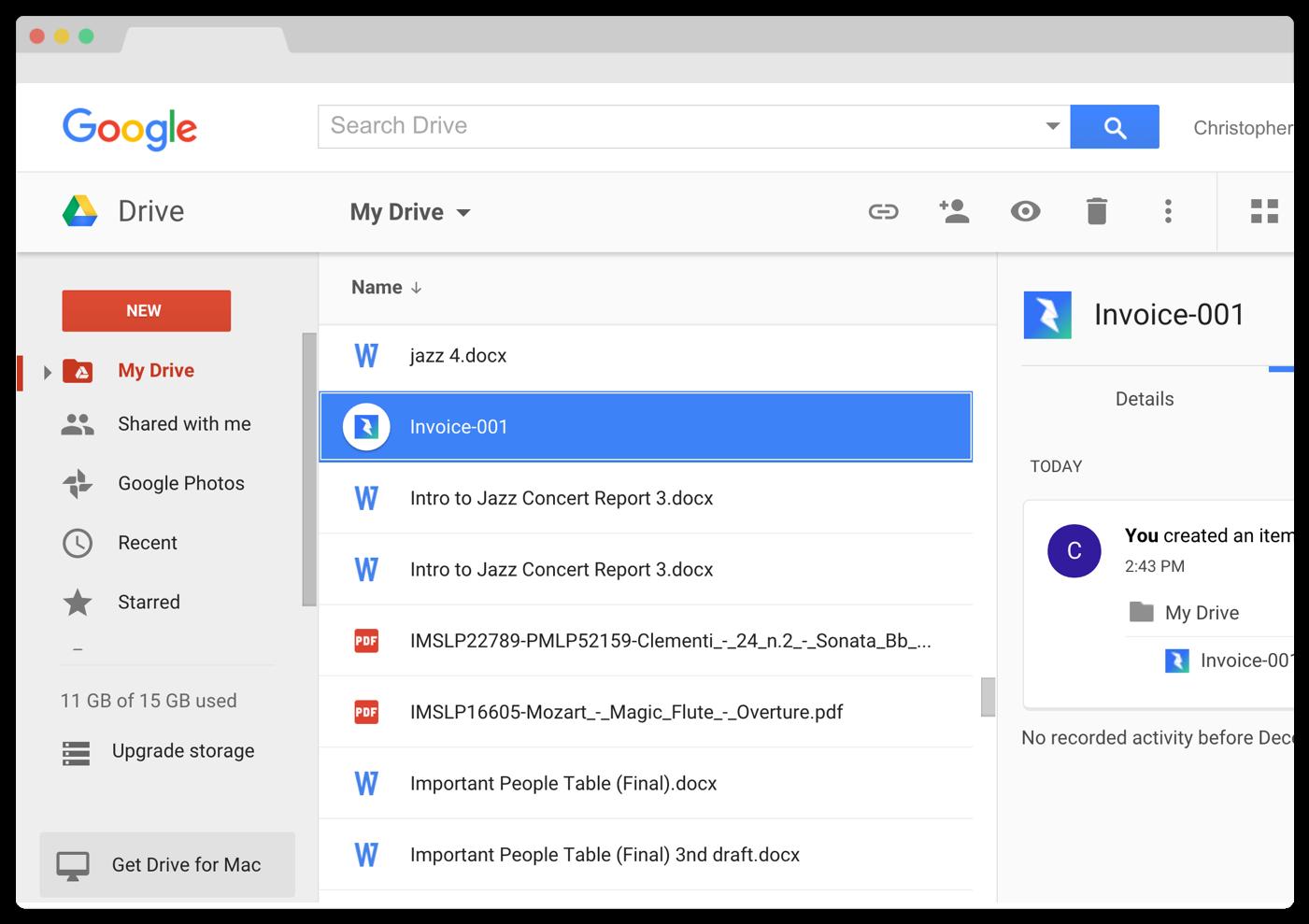 Google Drive Invoice Invoice Design Inspiration